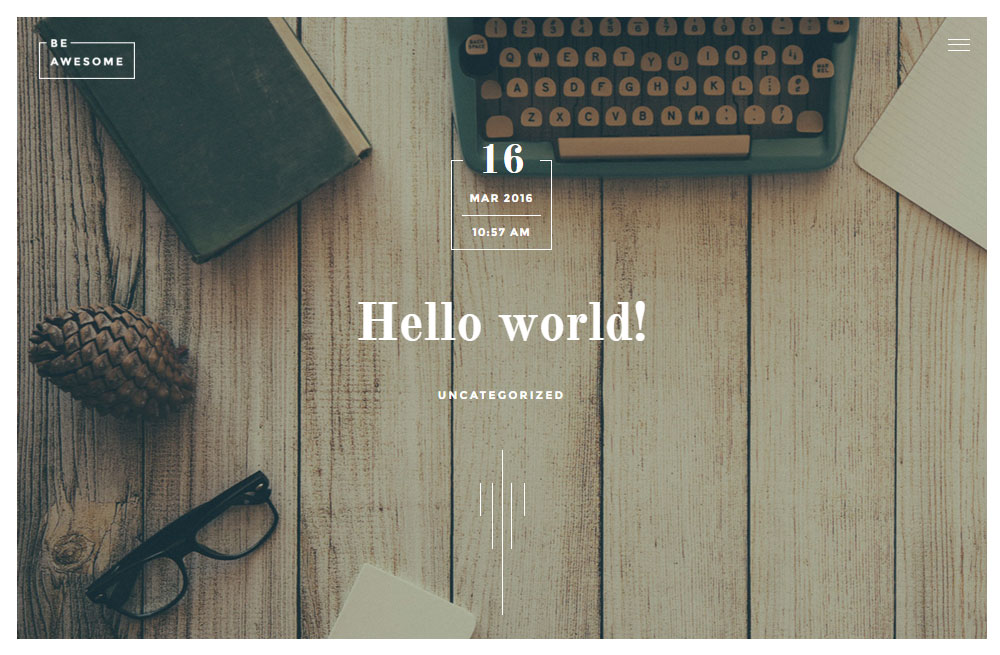 BeAwesome Theme Review Blog Post
