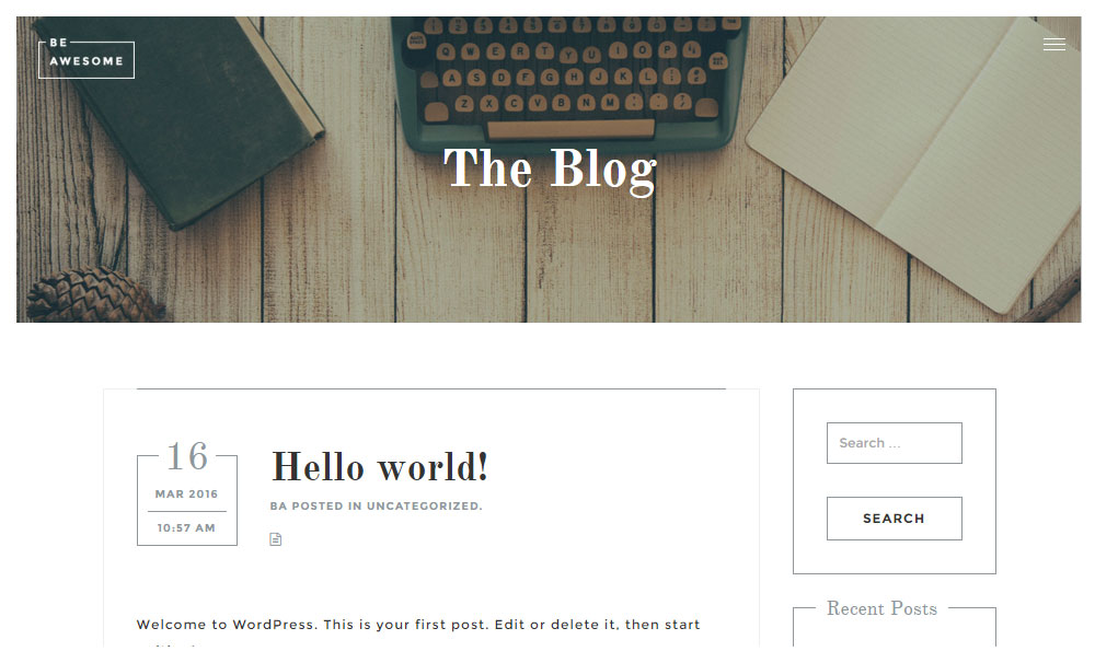 BeAwesome Theme Review Blog
