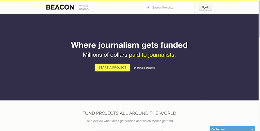 Beacon — Crowdfunding Journalism