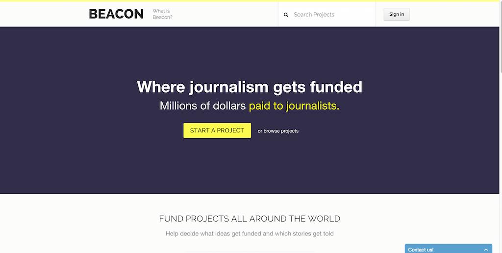 Beacon — Crowdfunding Journalism
