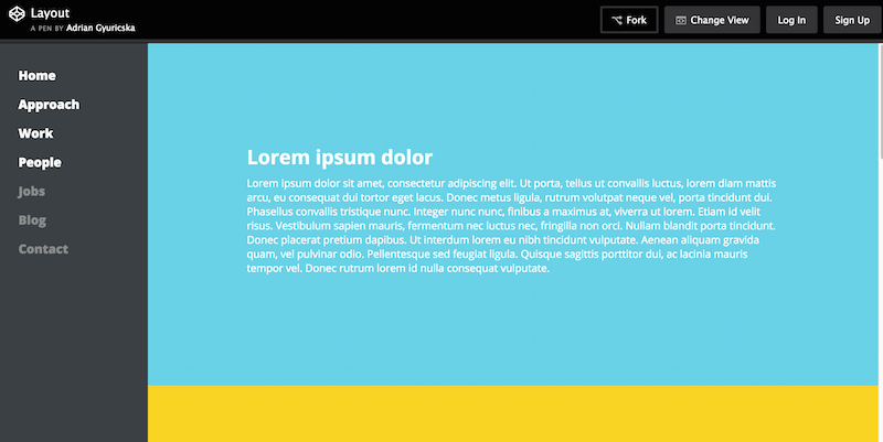 Beautiful CSS3 Layout