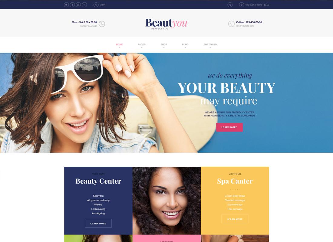 BeautYou | Beauty, Hair & Spa Salon WordPress Theme