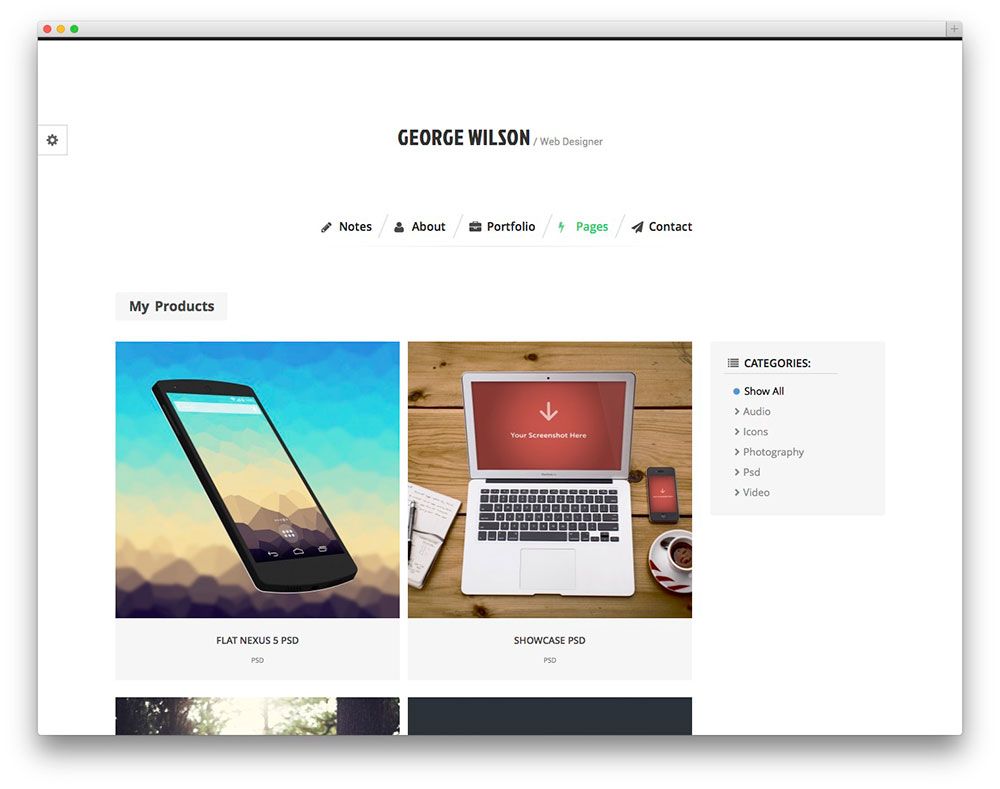 Bernate WordPress theme
