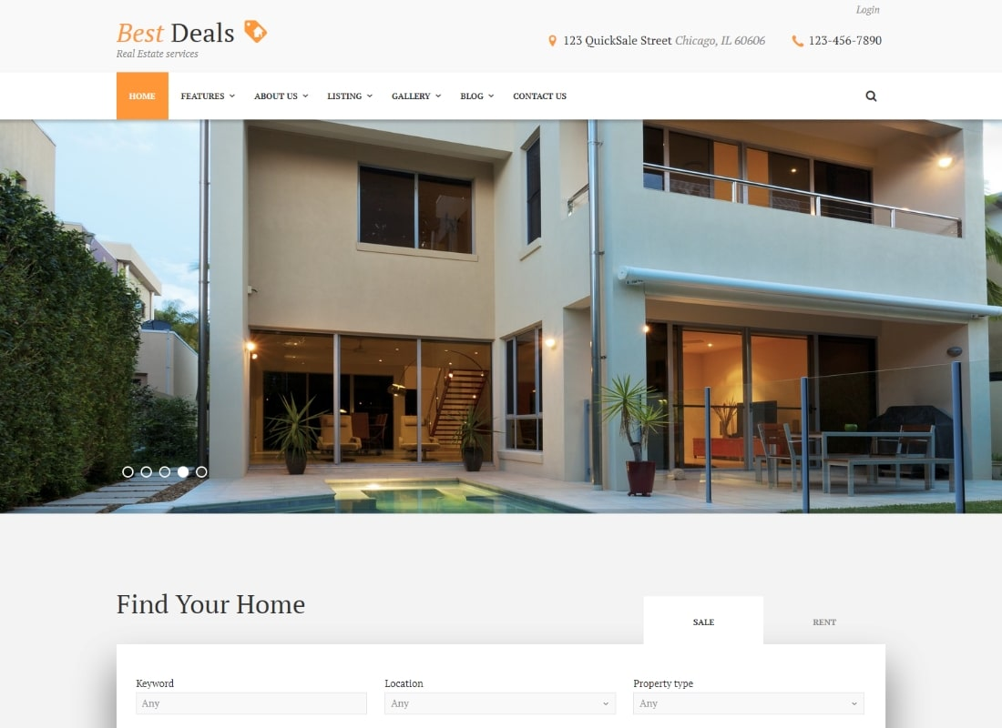 Best Deals | A Modern Property Sales & Rental WordPress Theme