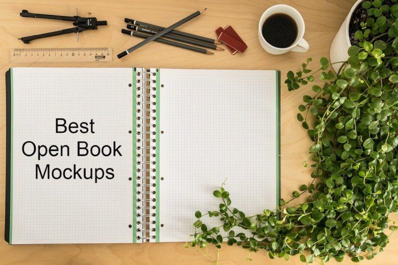 15+ New Open Book & Magazine Mockups For Designers