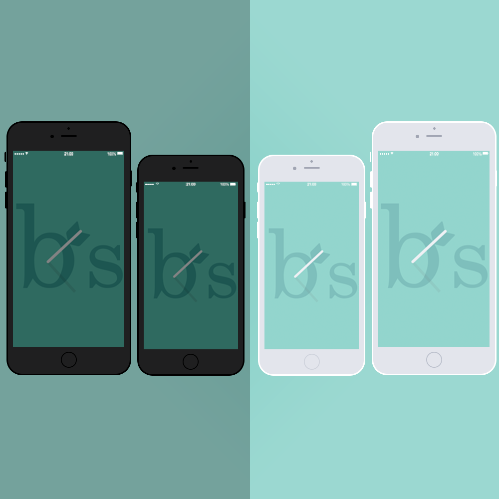 Free PSD iPhone 6 Mockup Template Black And White