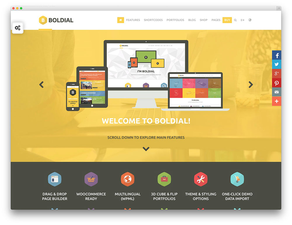 Boldial - Yellow portfolio theme