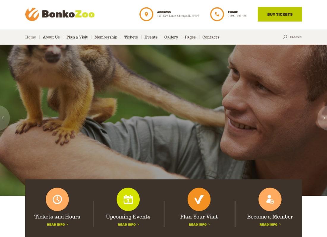 Bonko | Safari & Zoo WordPress Theme