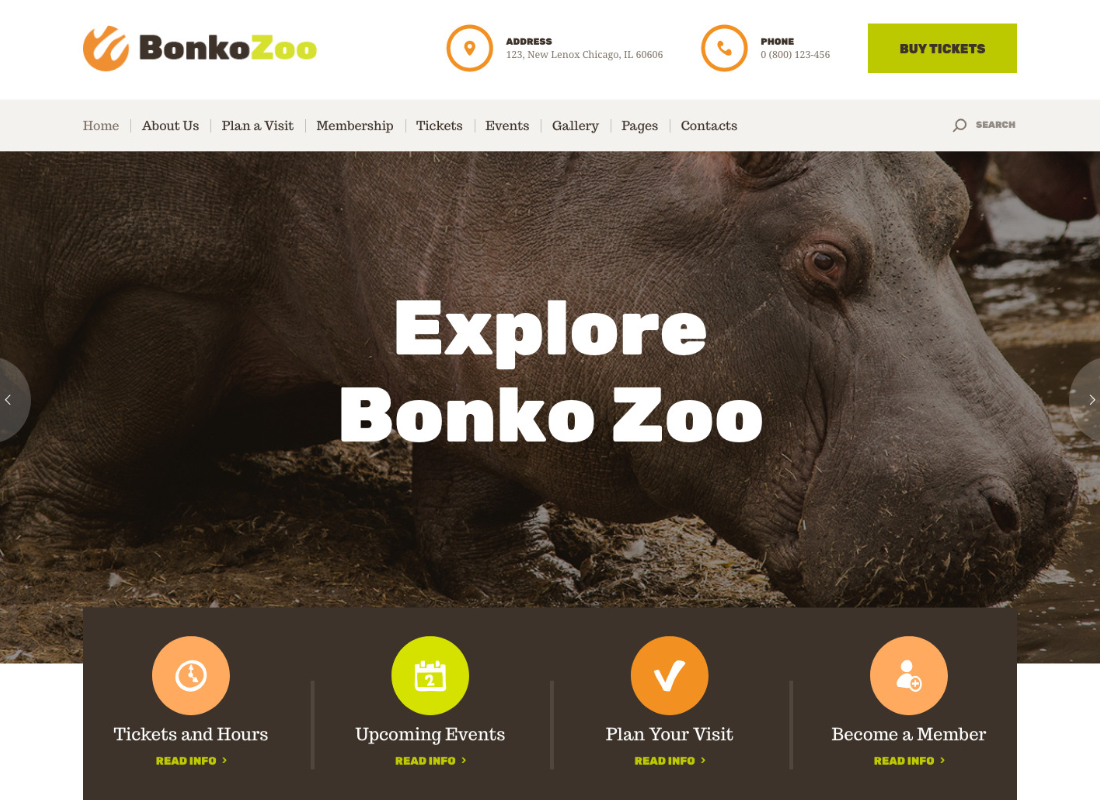 Bonko | Safari & Zoo WordPress Theme