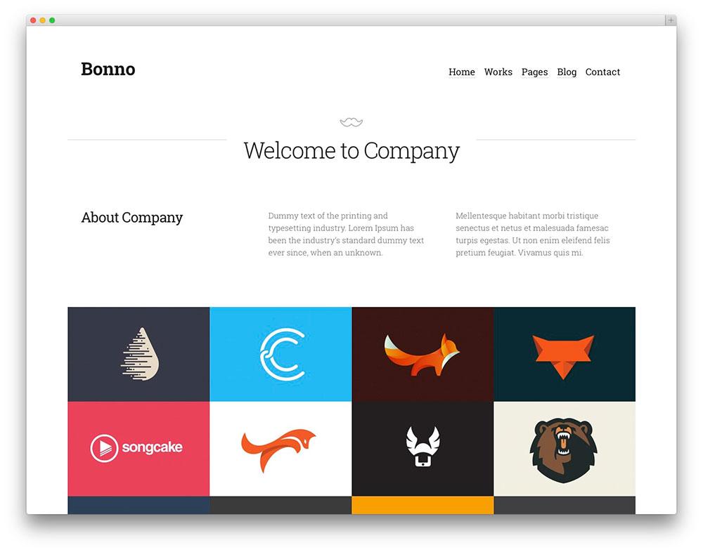 Bonno Clean Portfolio theme