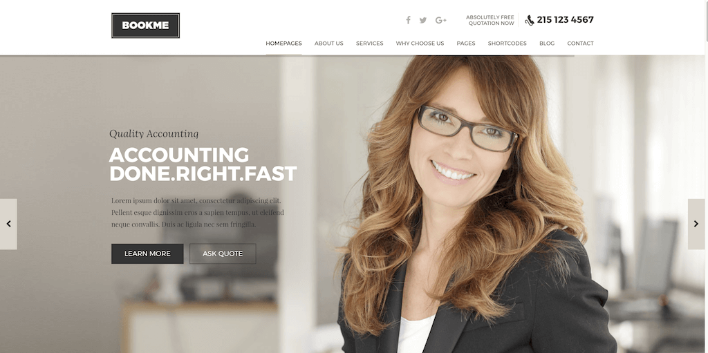Appointment Booking WordPress theme