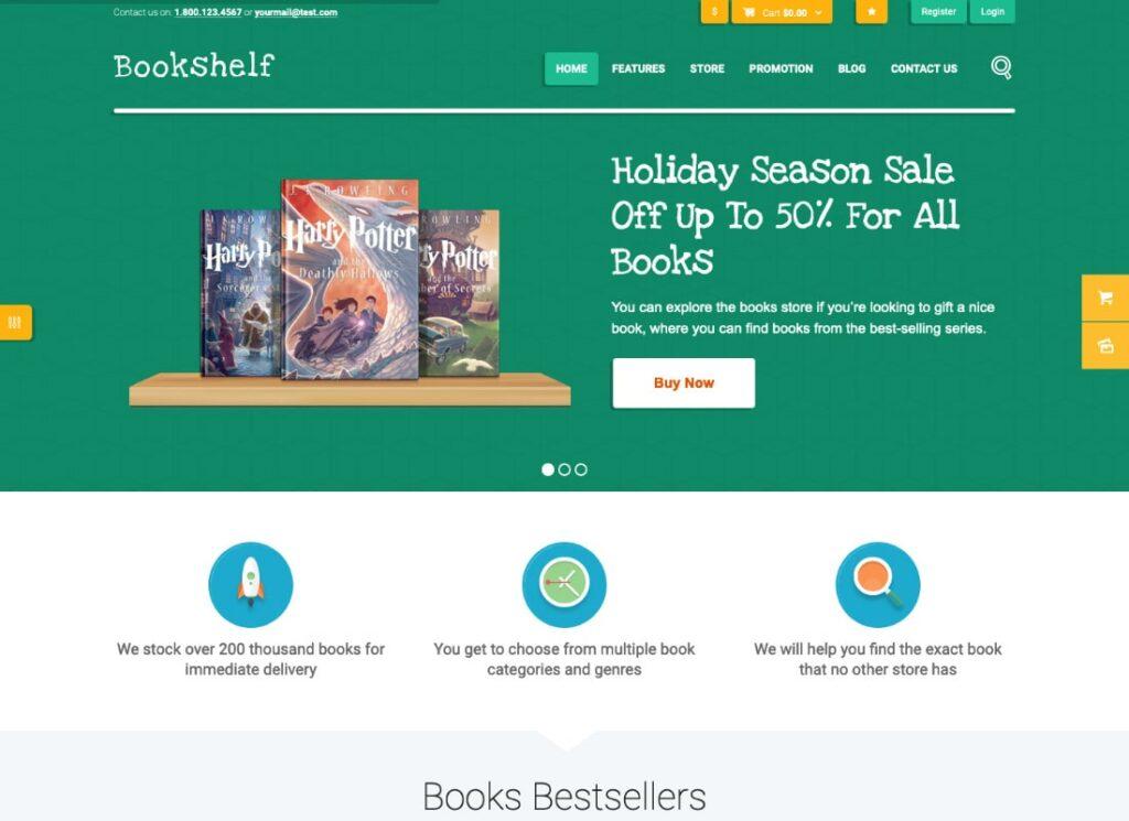 Bookshelf   Books & Media Online Store WordPress Theme