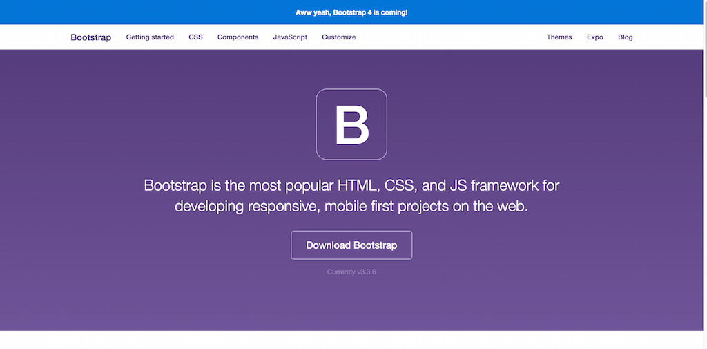 Bootstrap · The world s most popular mobile first and responsive front end framework.
