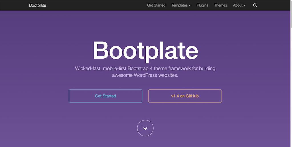Bootstrap 4 theme framework for building awesome WordPress websites