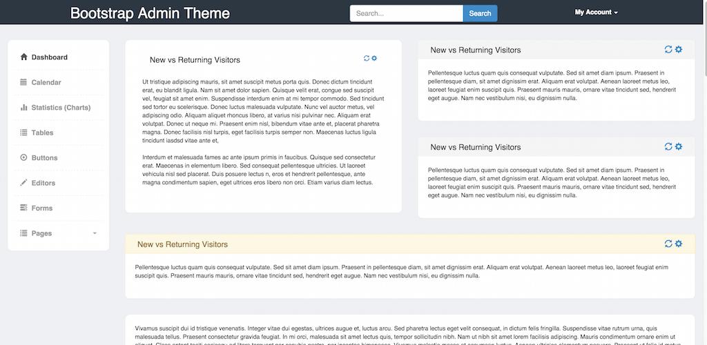 Bootstrap Admin Theme v3