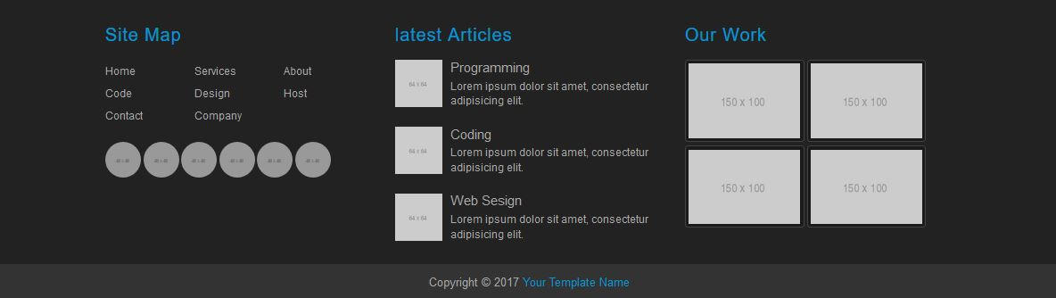 footer template html css free download
