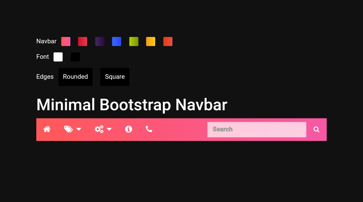 20 Awesome Free Bootstrap Navbar Examples 2019 - Colorlib