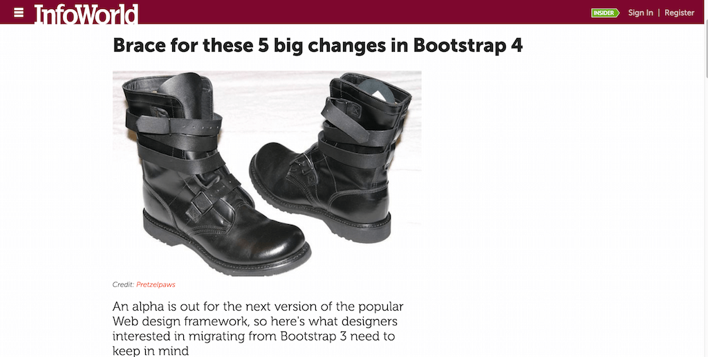 Brace for these 5 big changes in Bootstrap 4