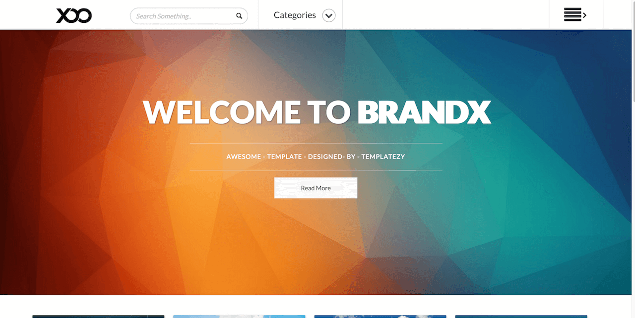 BrandX Blogger template BTemplates