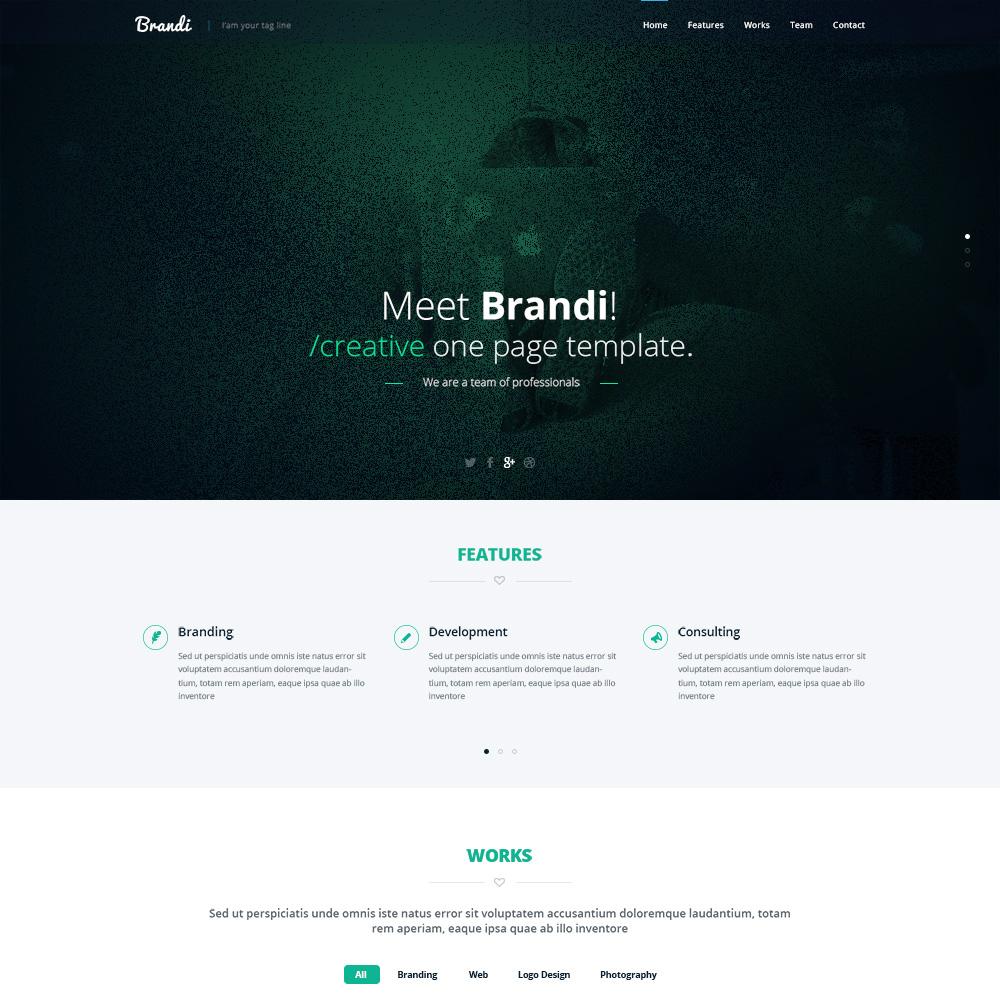Brandi Free PSD One Page Templates
