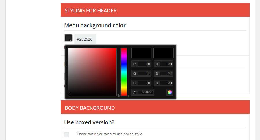 Brixton WordPress Theme Review Colors
