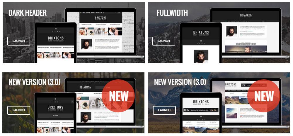 Brixton WordPress Theme Review Demos
