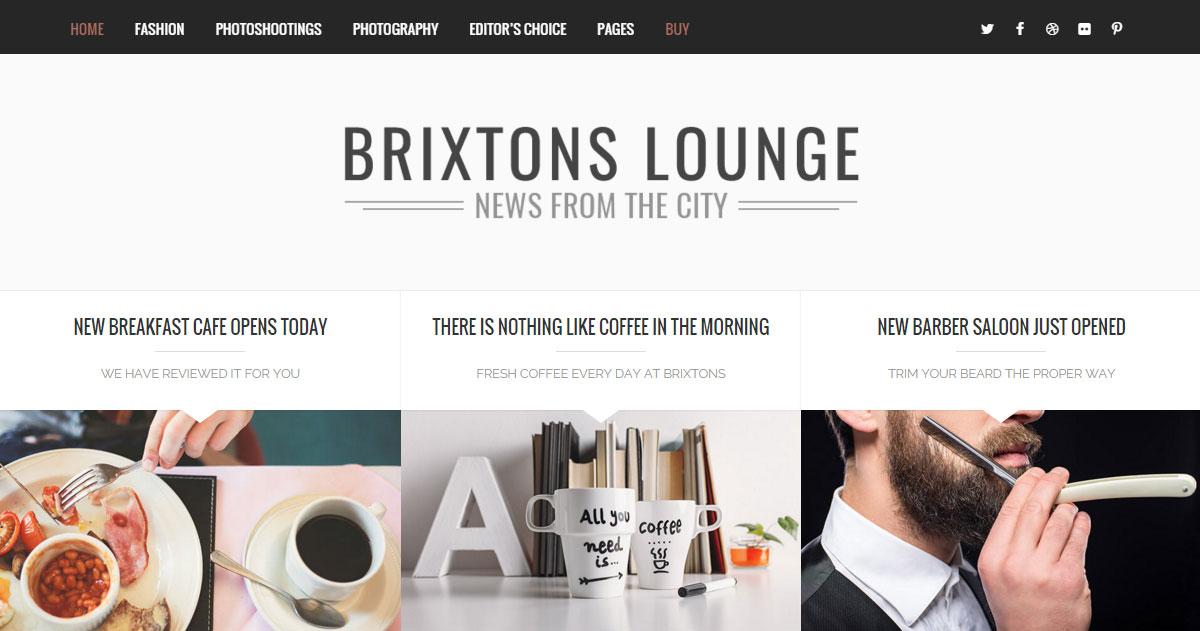 Brixton WordPress Modern Creative Blog Theme Review