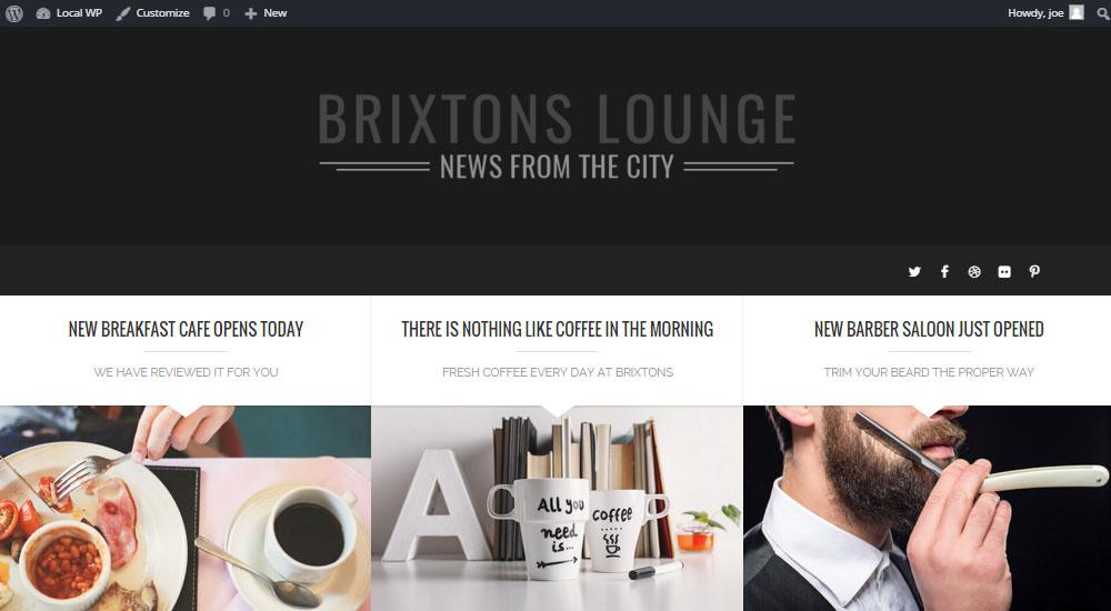 Brixton WordPress Theme Review My Demo