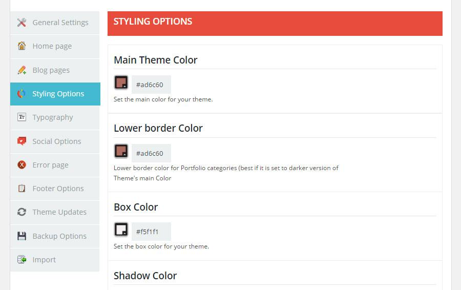 Brixton WordPress Theme Review Options