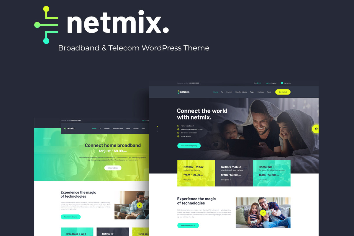Netmix | Broadband & Telecom WordPress Theme