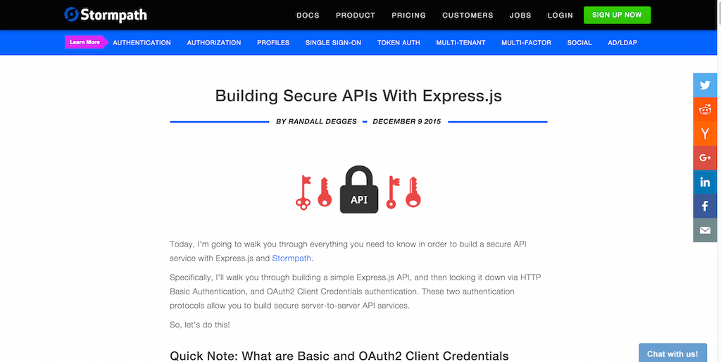 Building Secure APIs With Express