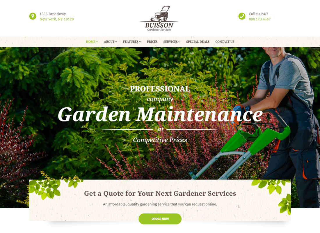 Buisson - Gardening WordPress Theme
