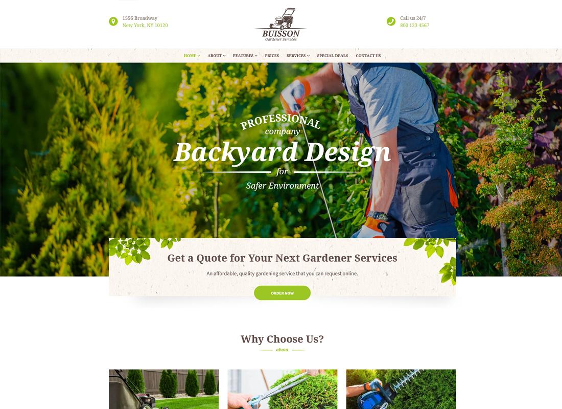 Buisson | Gardening WordPress Theme