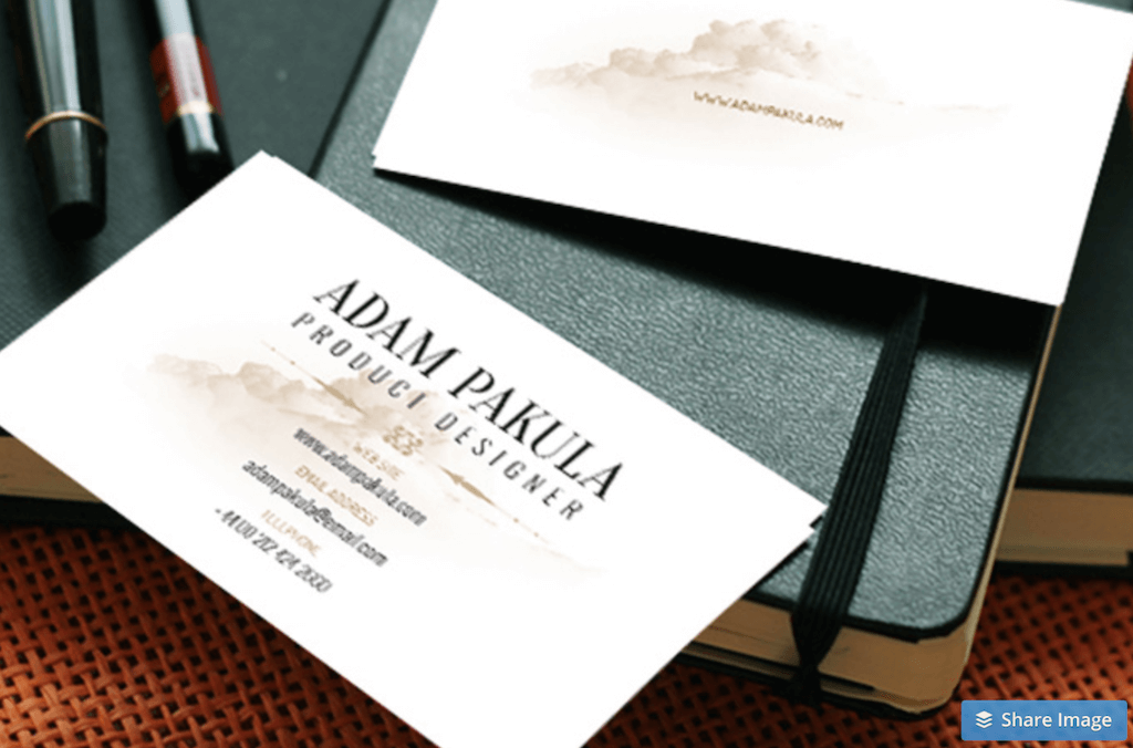 Business Card Mockup by WebVilla