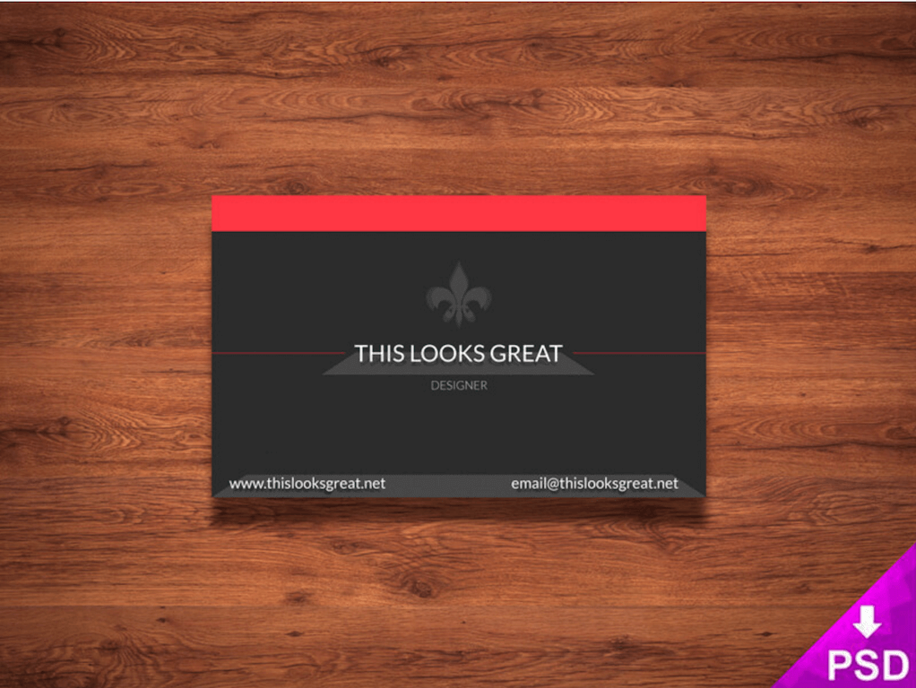 Top 18 free business card psd mockup templates in 2018 colorlib business card template by this looks great accmission Image collections