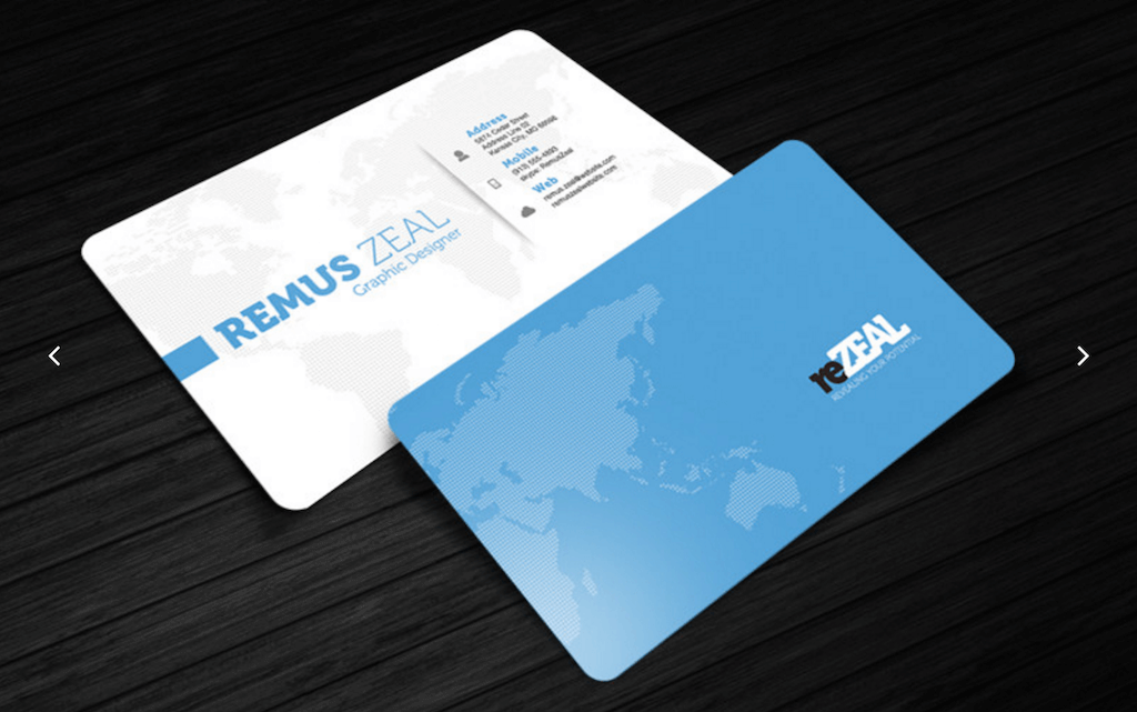 Business Card Template reZEAL Cursive Q Designs