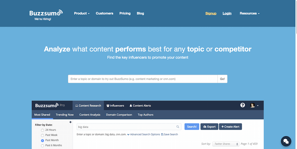 BuzzSumo Find the Most Shared Content and Key Influencers
