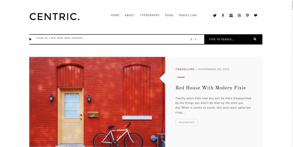 CENTRIC. — A Versatile Magazine Theme