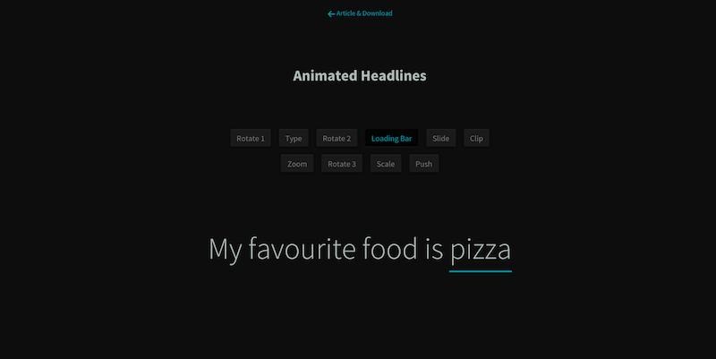 CSS Animated Headlines