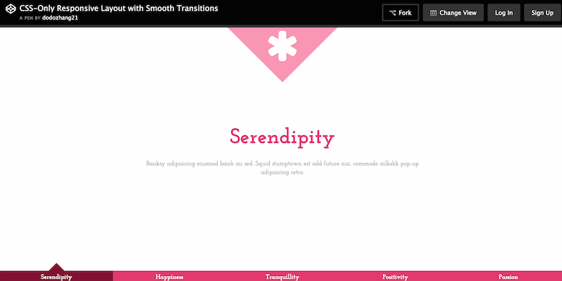 CSS Only Responsive Layout with Smooth Transitions
