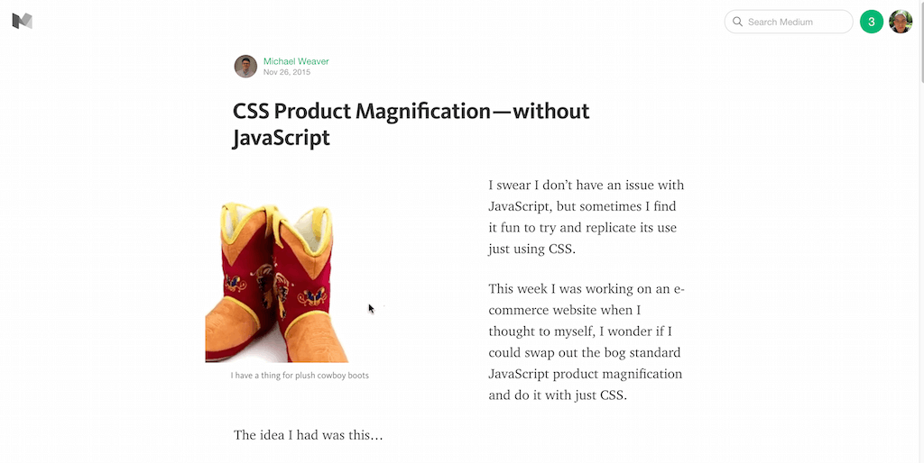 CSS Product Magnification — without JavaScript — Medium