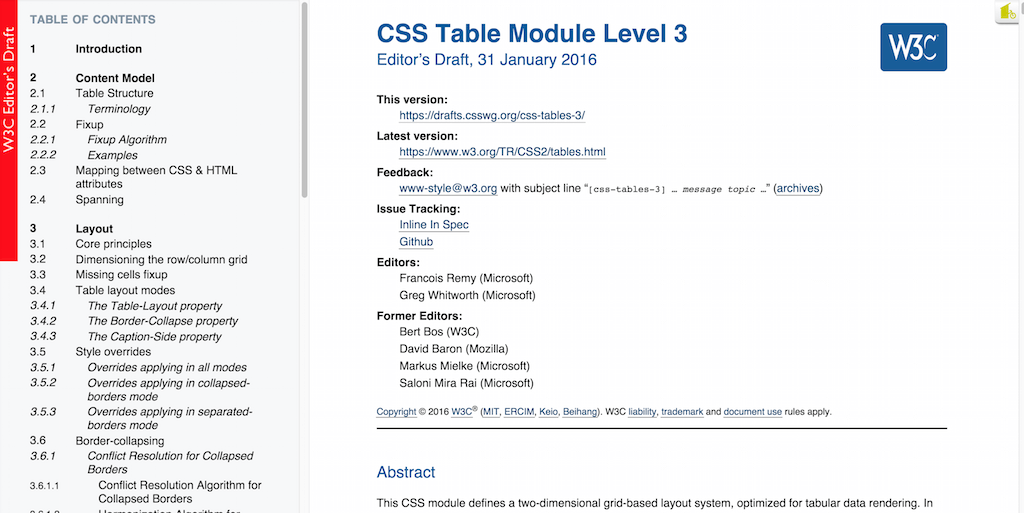 Table css for Css display table