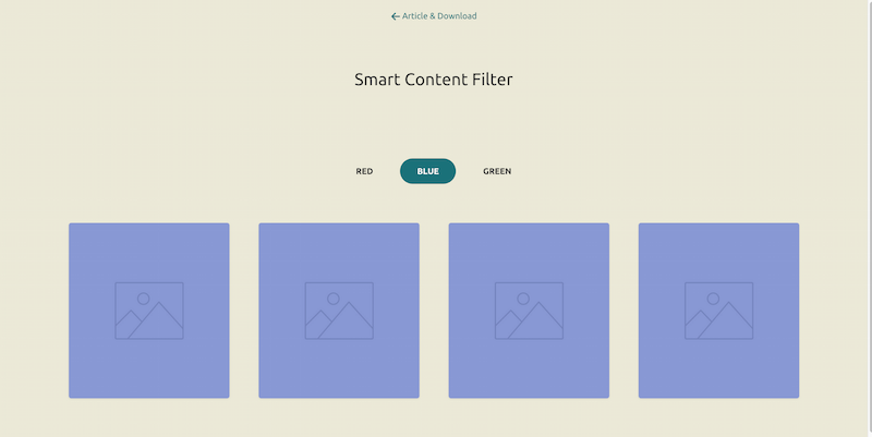 CSS and jQuery Bouncy content filter
