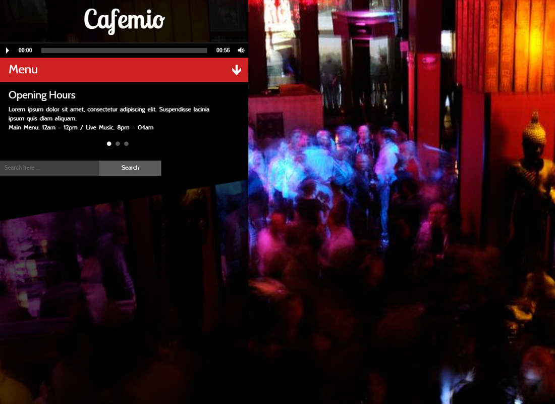 Cafemio - Ajax, Club, Bar, Cafe, Restaurant WP Theme