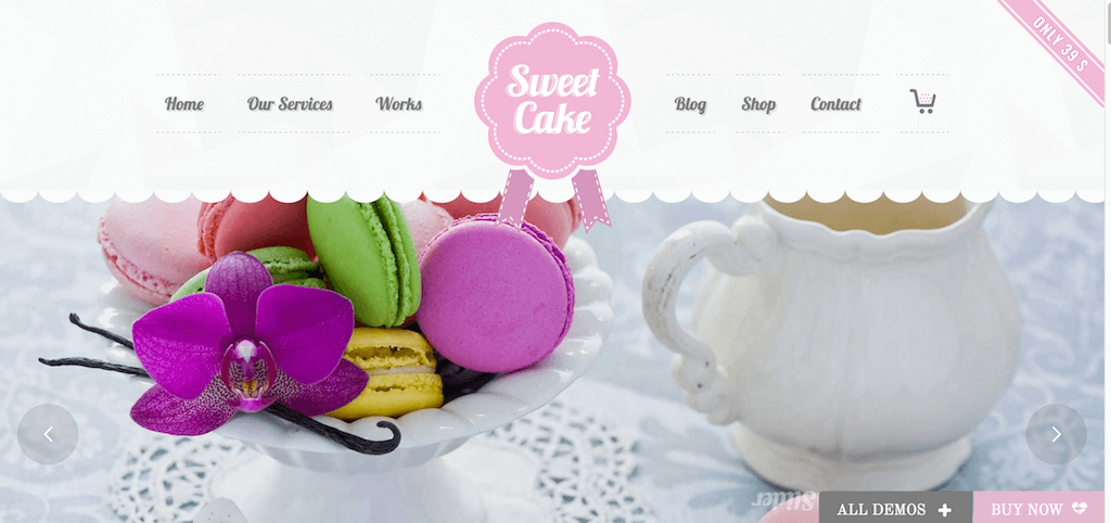 Cake Sweet Cake WP Theme