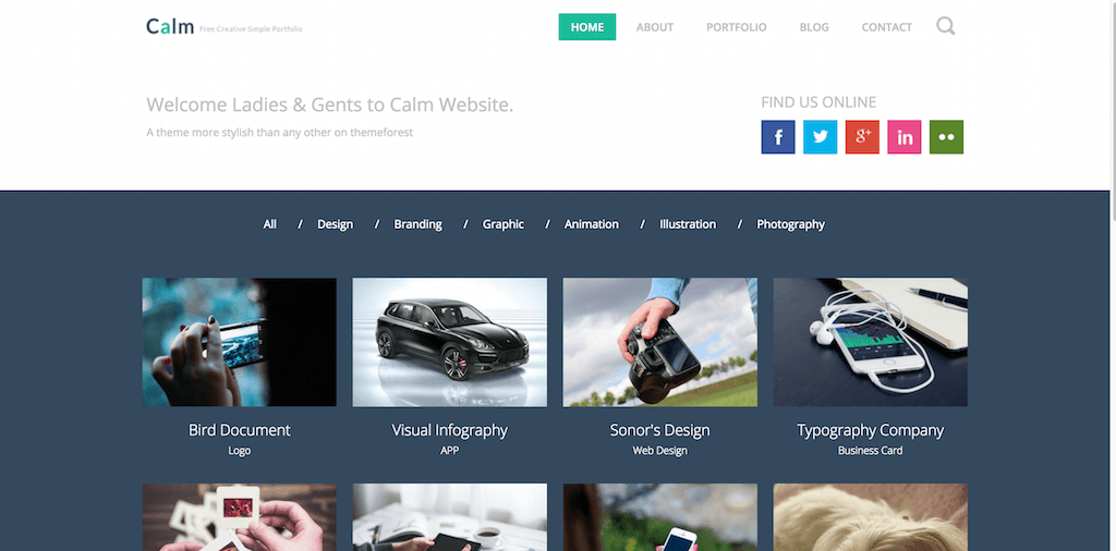 Calm Website Template Home w3layouts