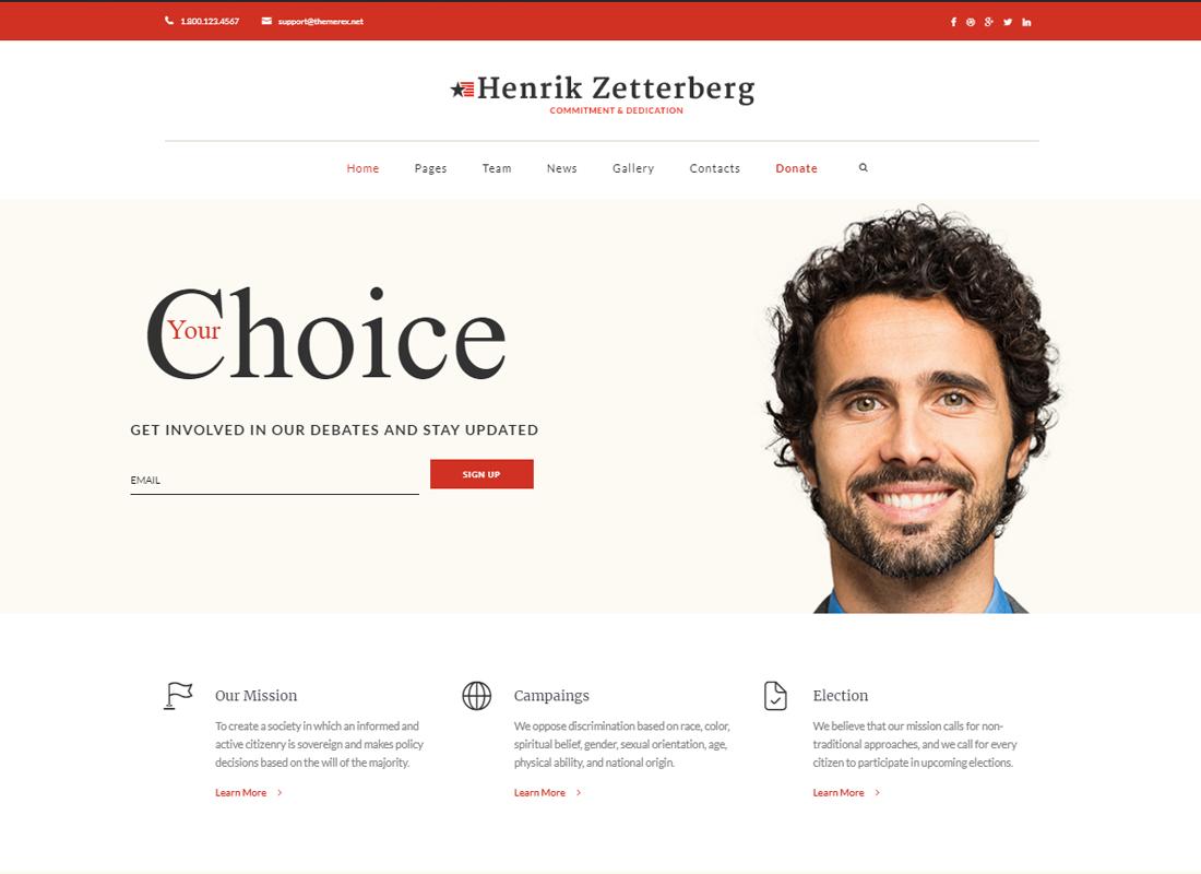 Candidate | Political / Non-profit WordPress Theme