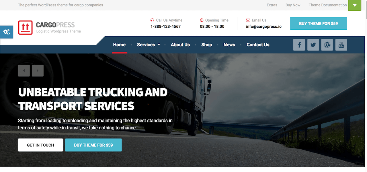CargoPress – Logistics WordPress Theme Demo