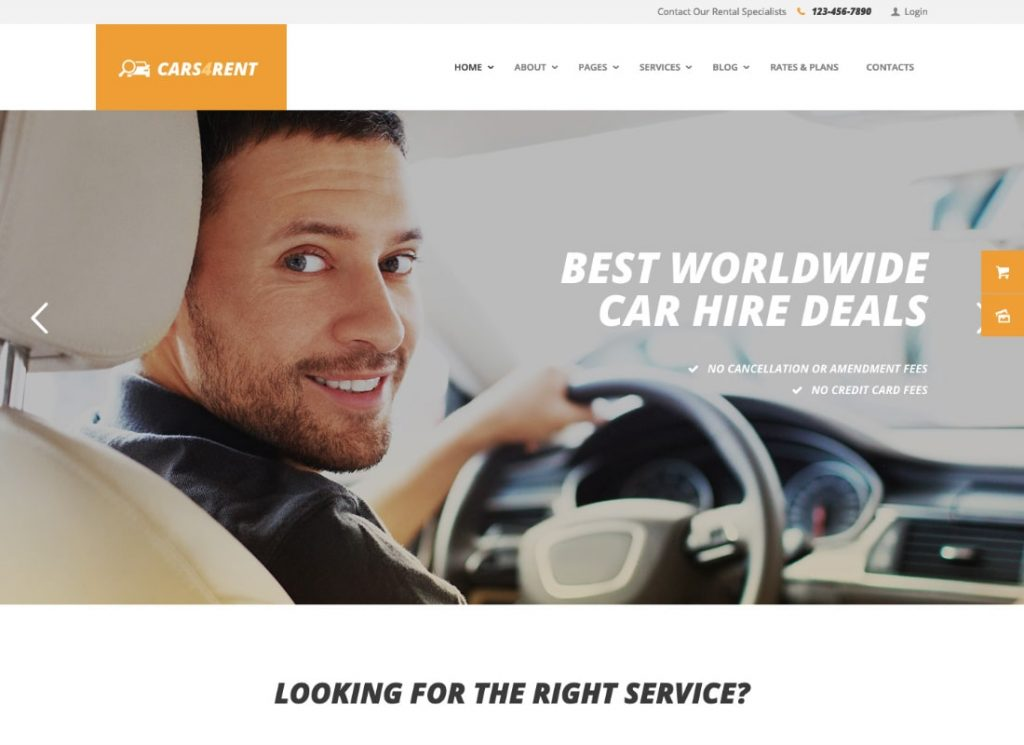 , 10 Coolest Transport Rent WordPress Themes, Rojak WP