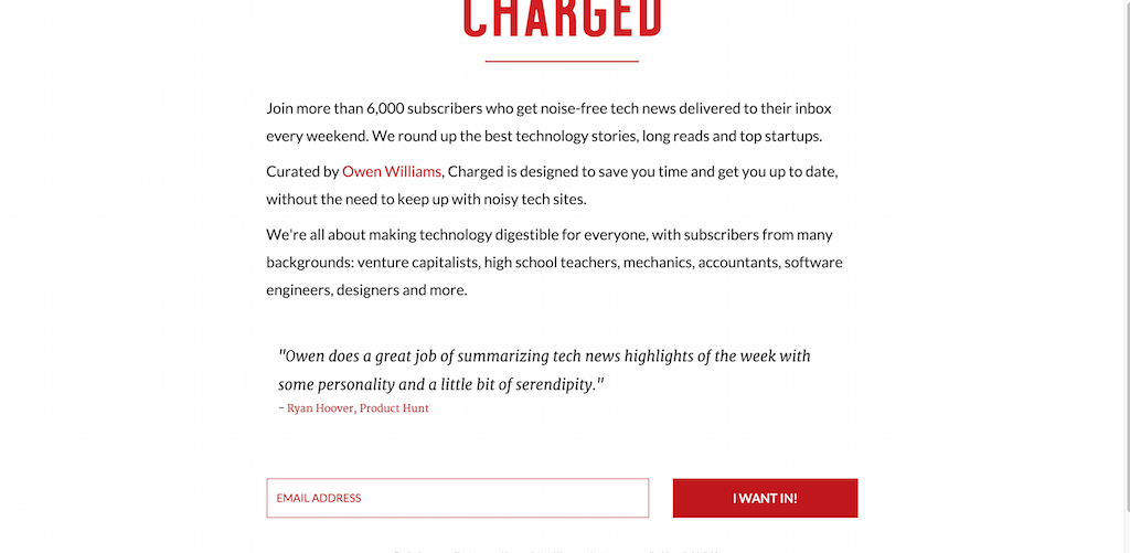 Charged Weekly tech newsletter